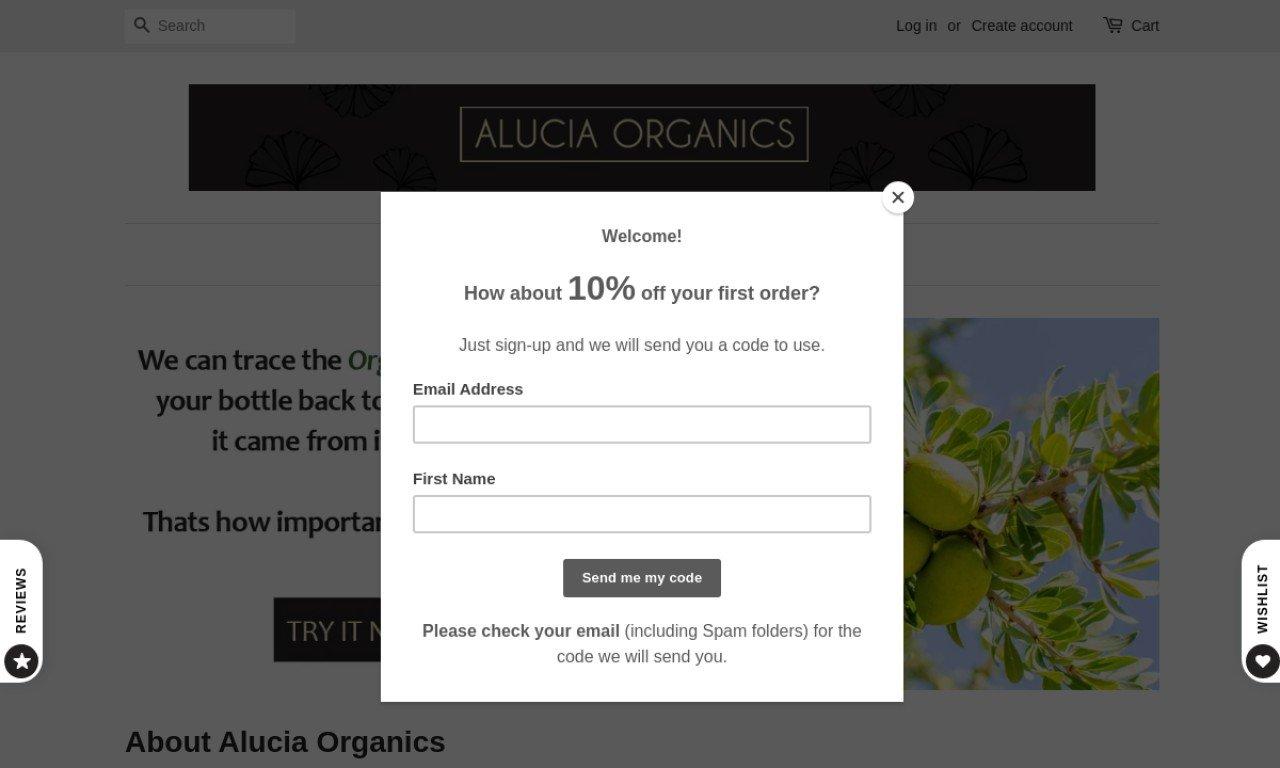 Alucia organics.com 1