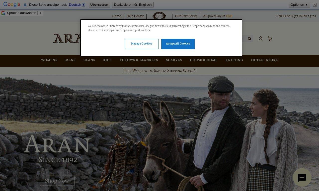 Aransweatermarket.com 1