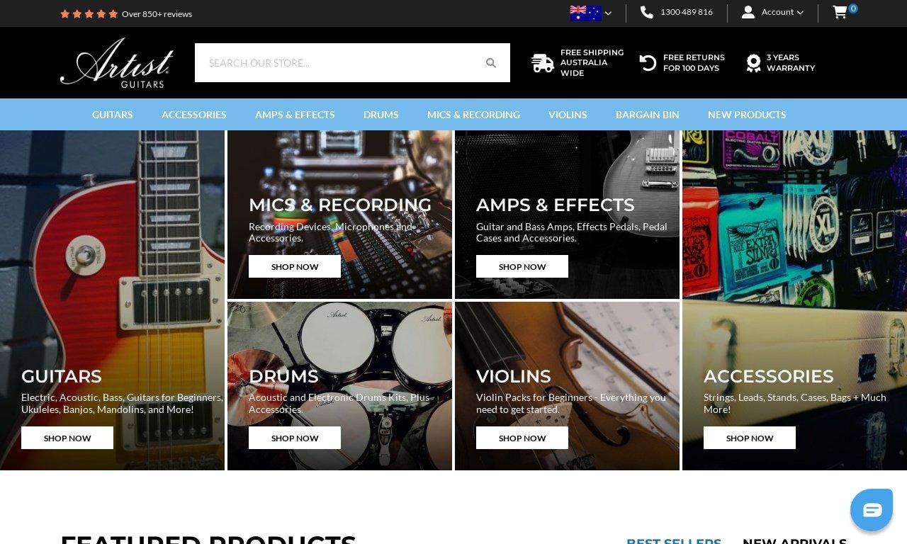 Artistguitars.com.au 1