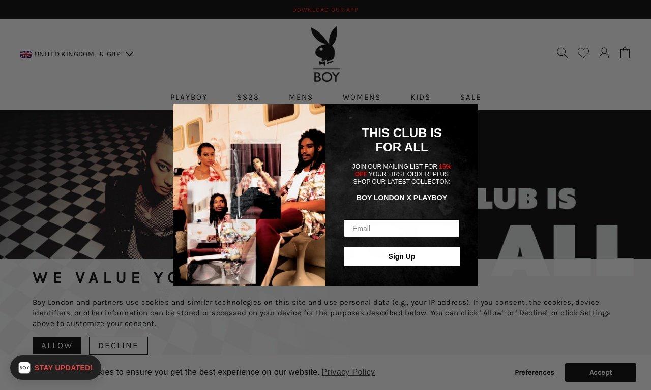 Boy London.com 1