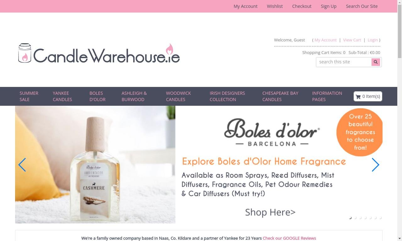 Candlewarehouse.ie 1