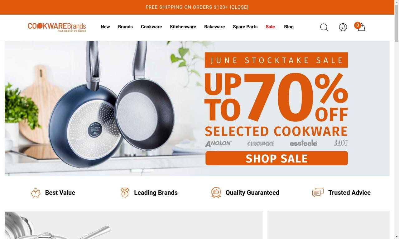 Cookwarebrands.com.au 1