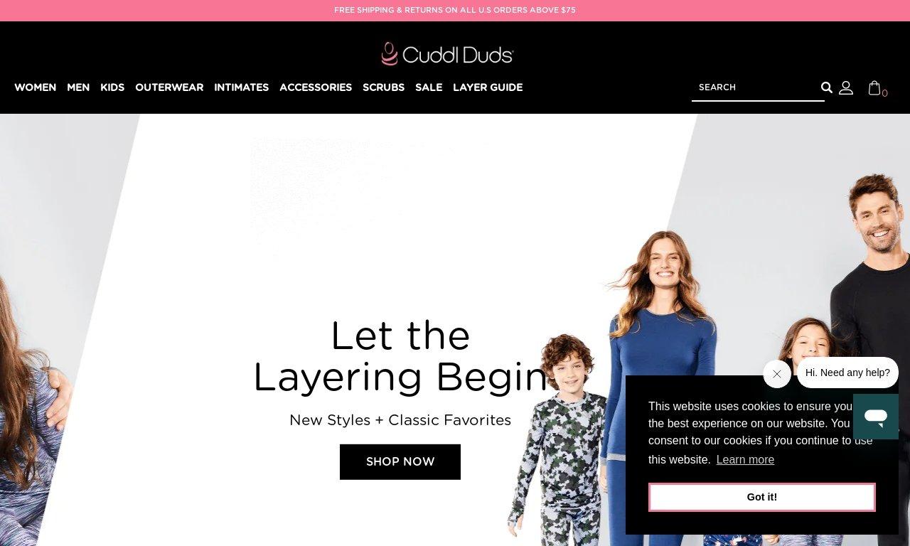 CuddlDuds.com 1