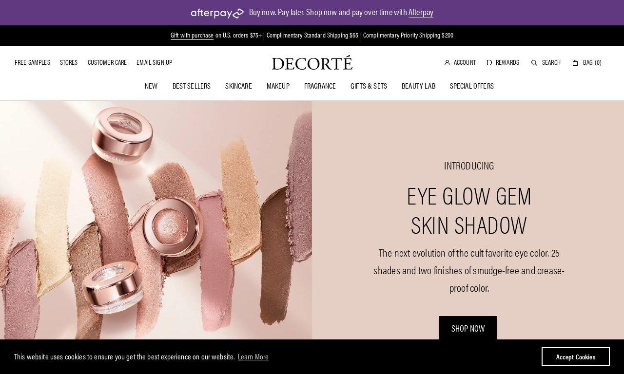 Decorte cosmetics.com 1