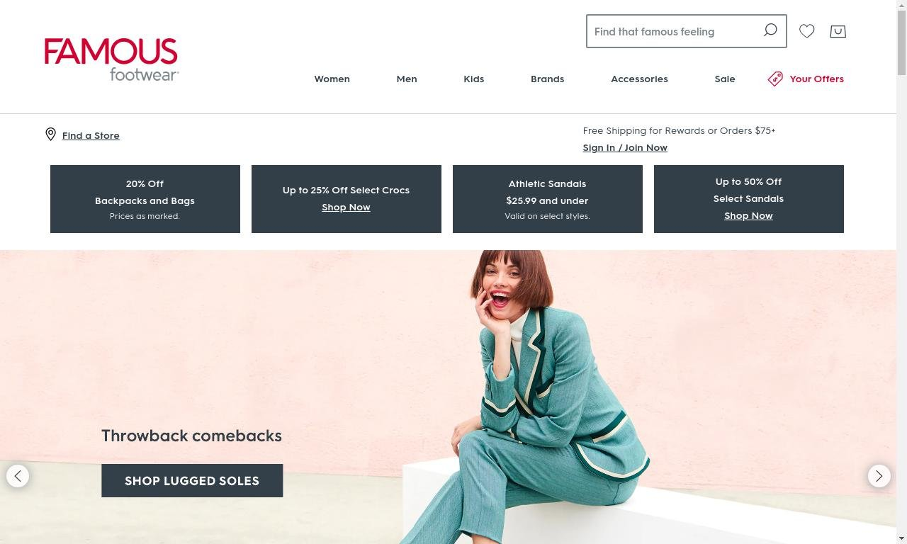 Famousfootwear.com 1