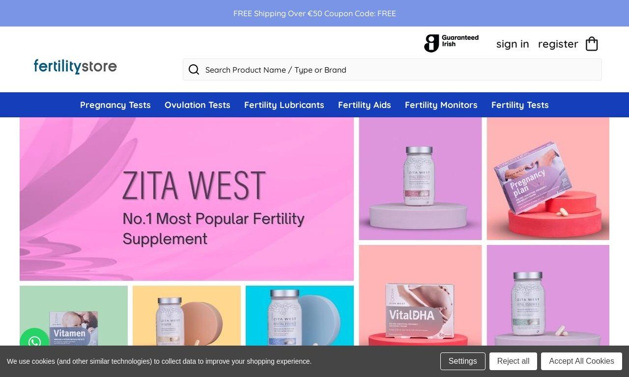 FertilityStore.ie 1