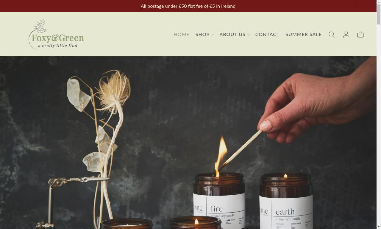 Foxy and green gifts.com 1
