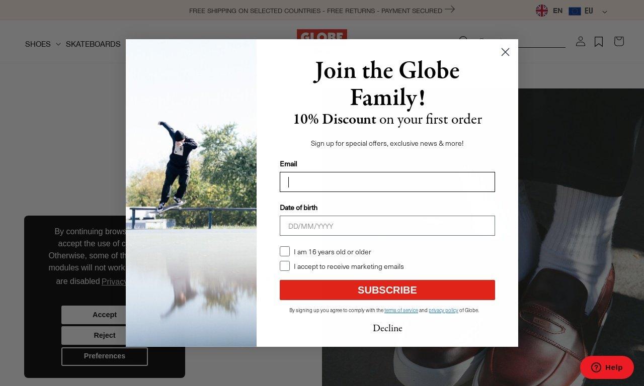 Globe brand.com 1