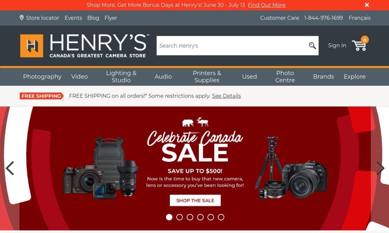 Henrys.com 1