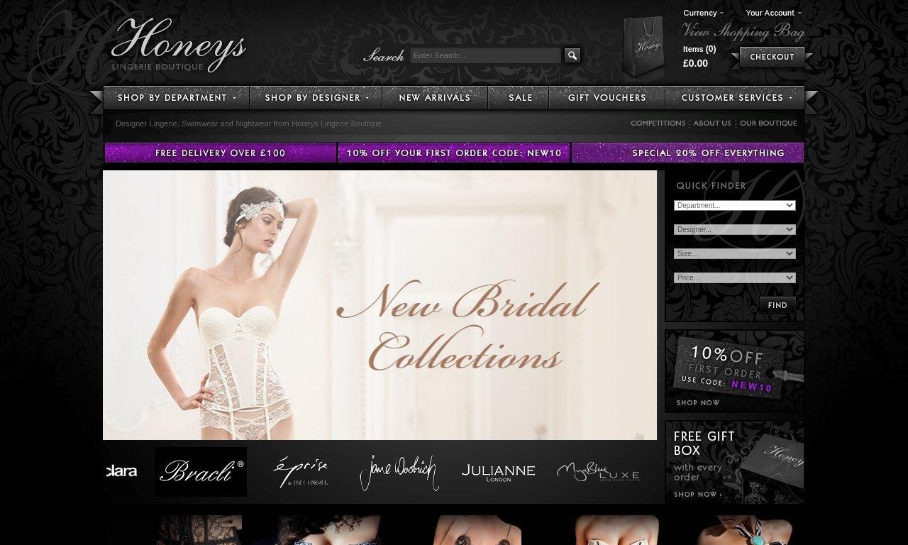 Honeys lingerie boutique.com 1