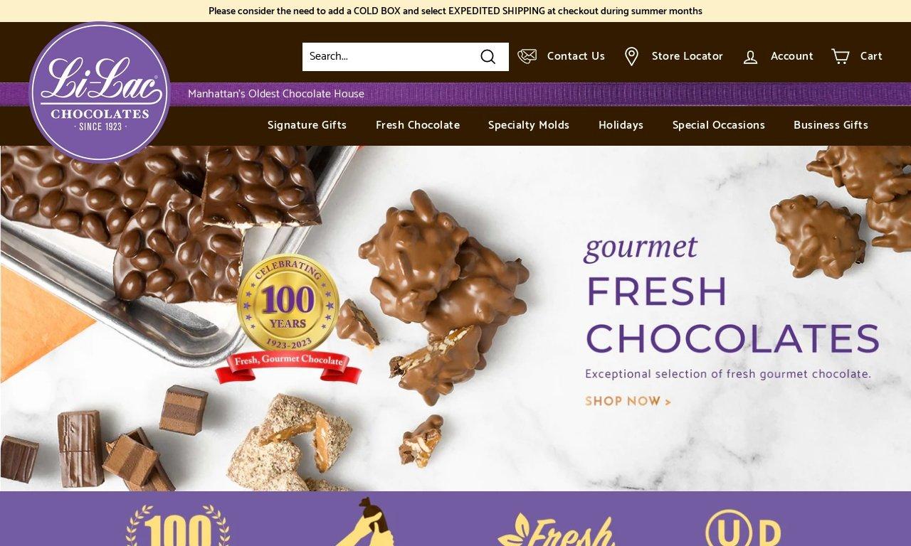 Li-lacchocolates.com 1