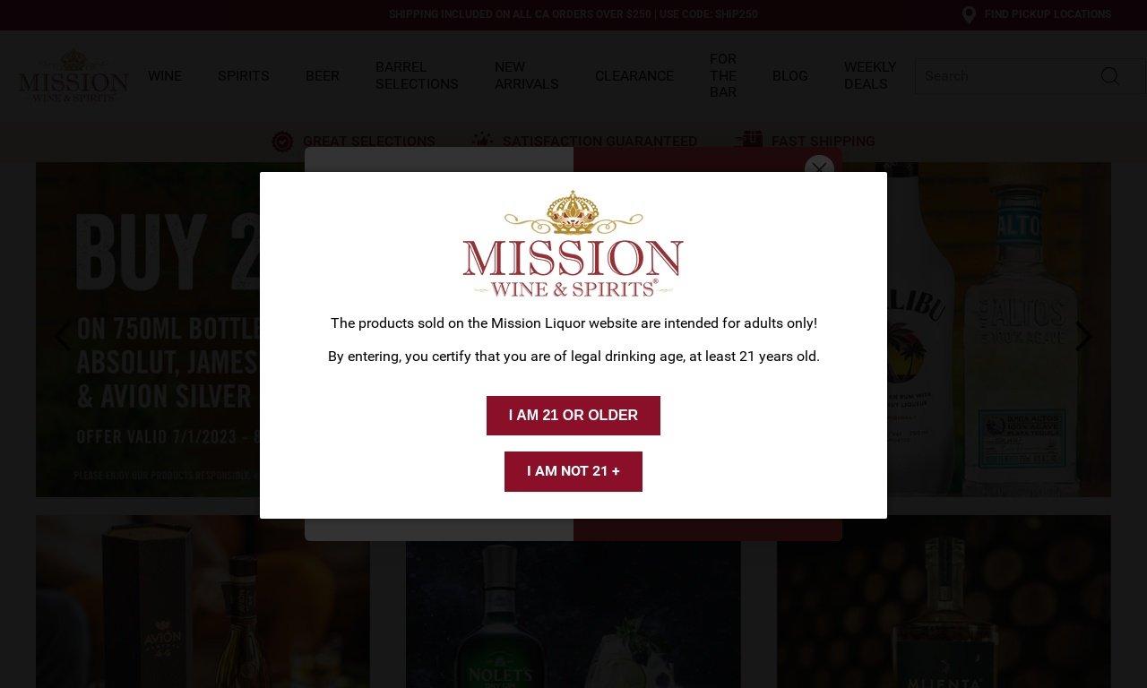 Mission liquor.com 1