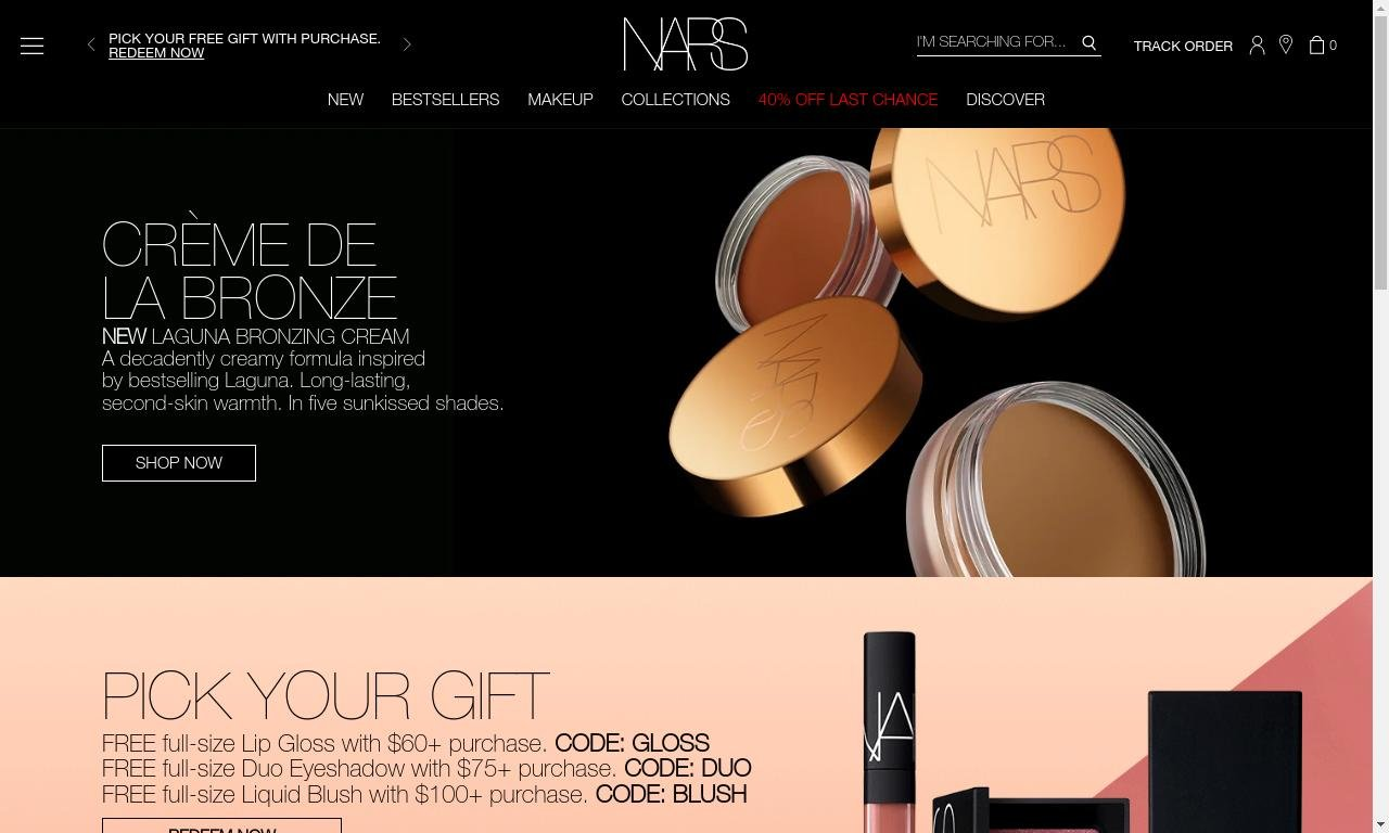 Nars cosmetics.co.uk 1