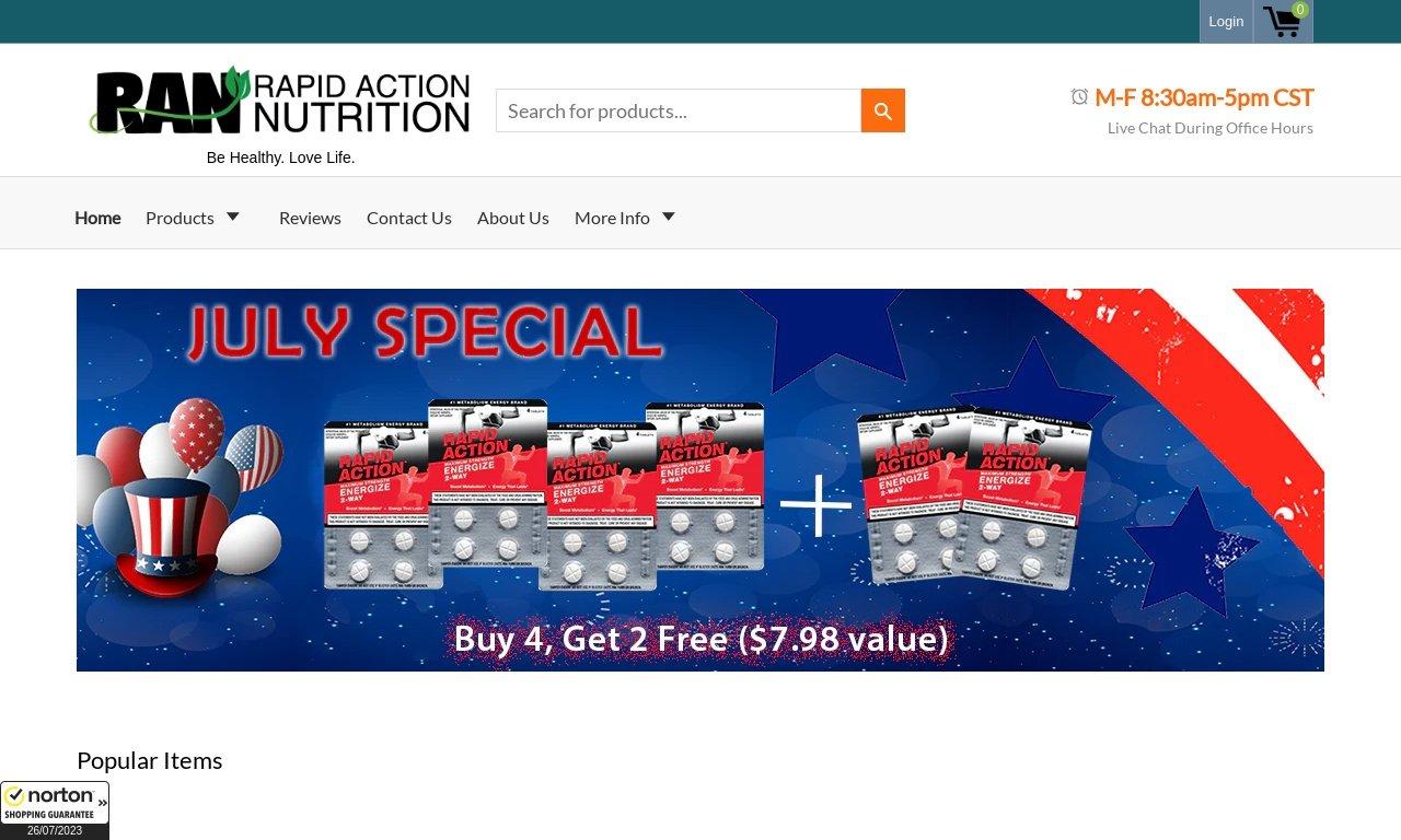 Rapidactionnutrition.com 1