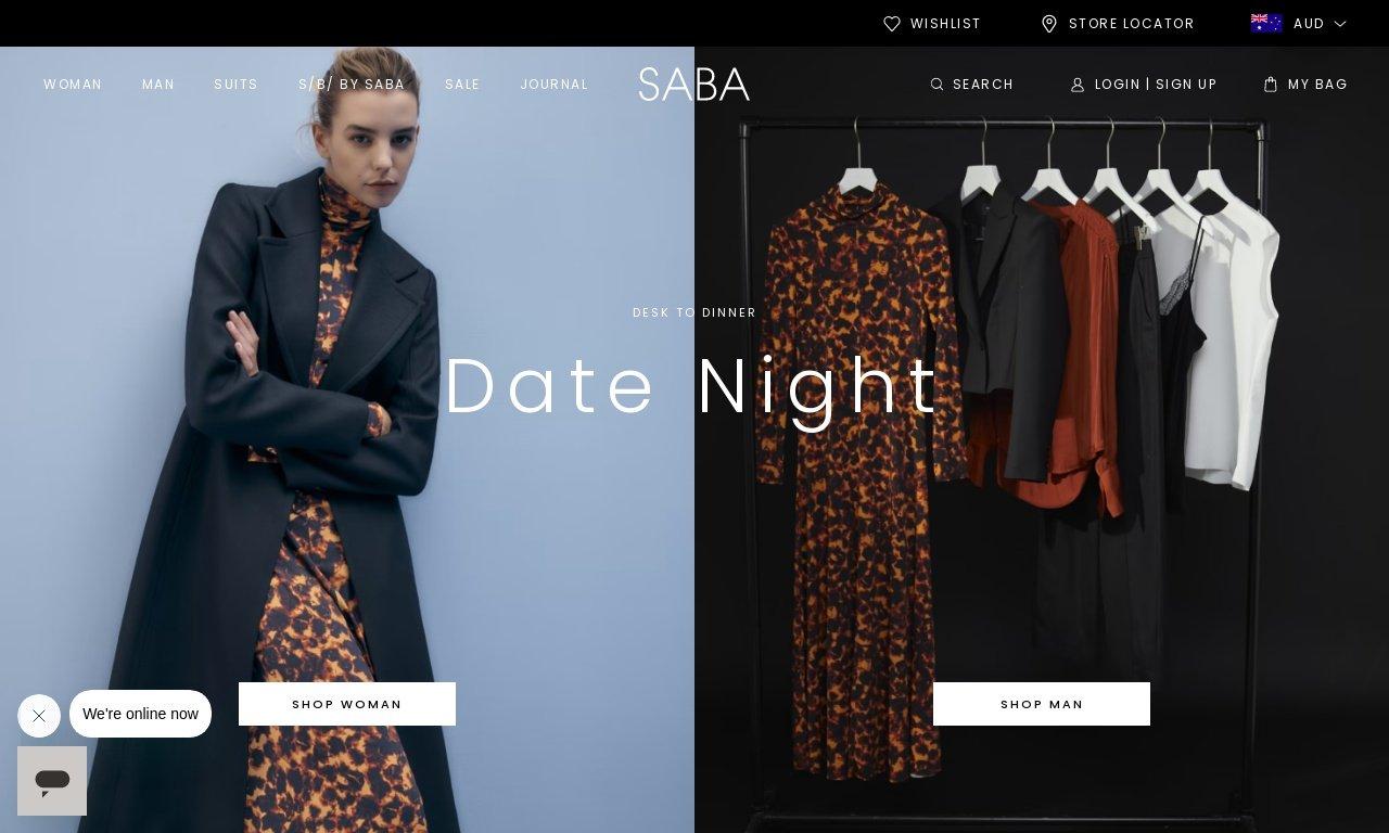 Saba.com.au 1