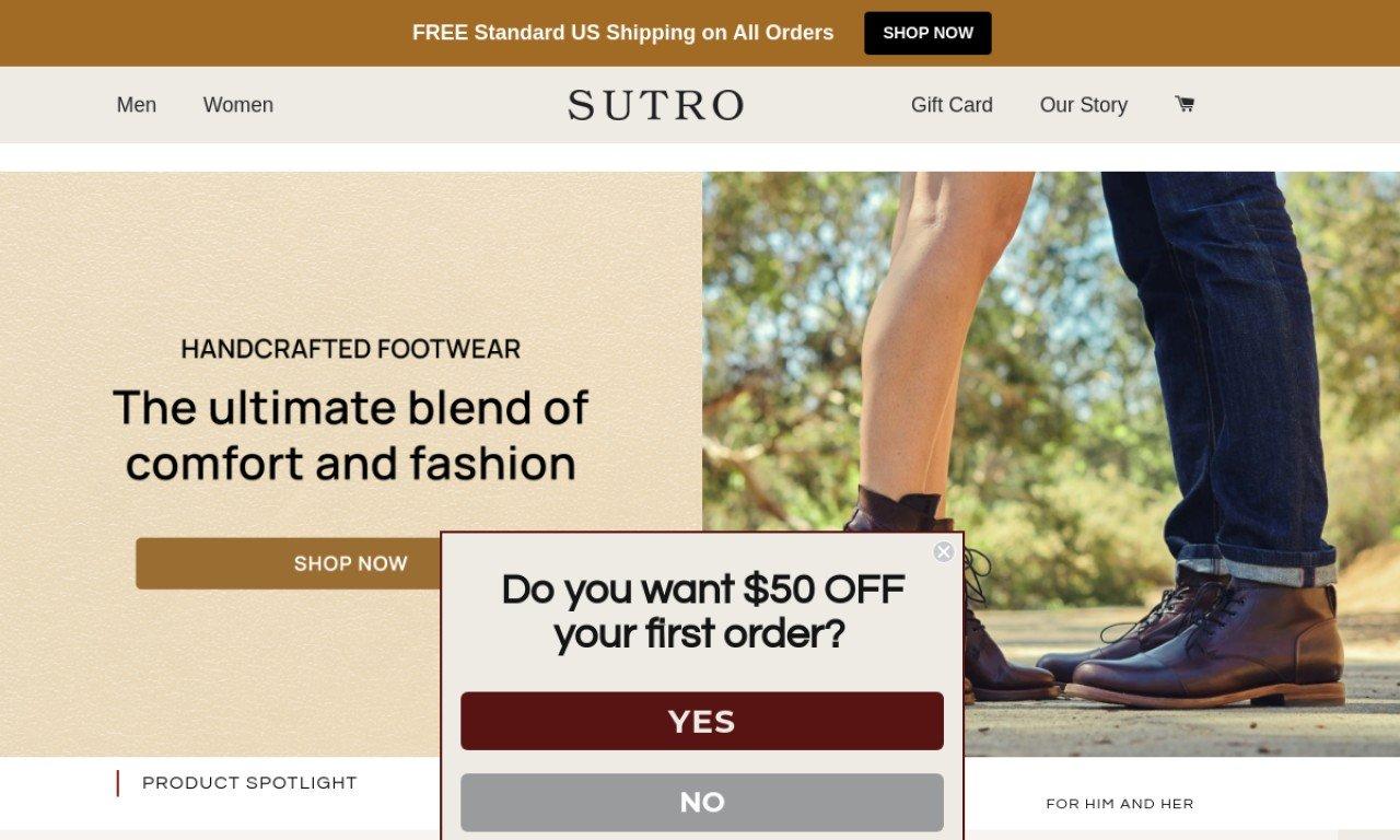 Sutrofootwear.com 1