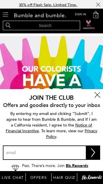 Bumble and bumble.com 2