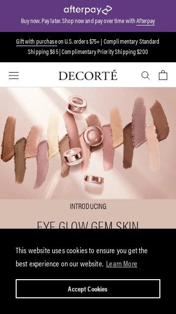 Decorte cosmetics.com 2