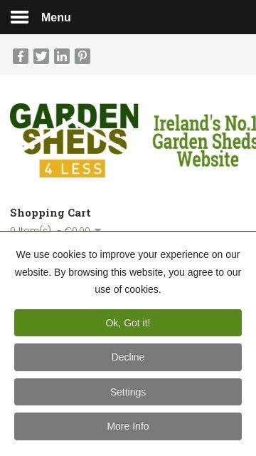 Gardensheds4less.ie 2