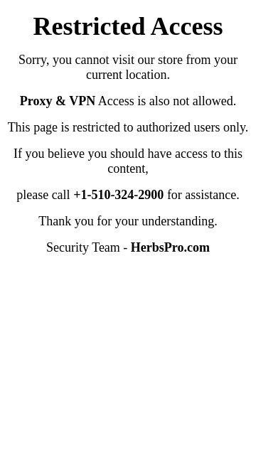 Herbspro.com 2