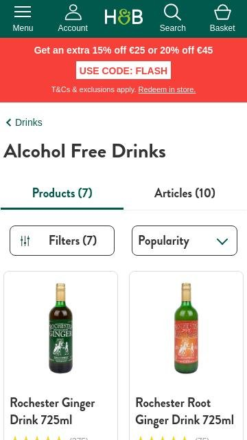Holland and barrett.ie - Alcohol free drinks 2