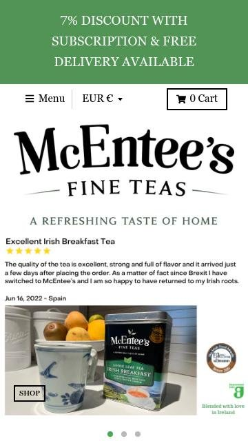 Mcentees tea.com 2
