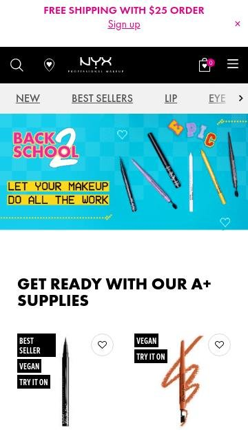 Nyx cosmetics.com 2