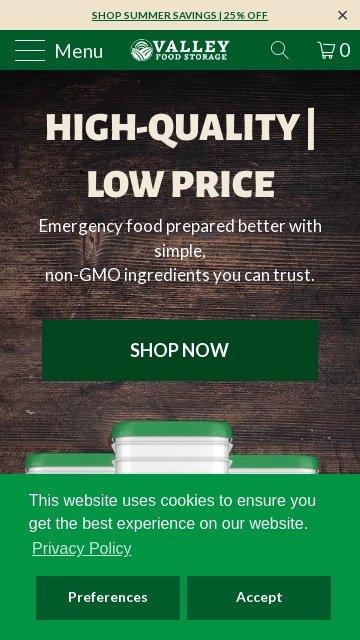 Valleyfoodstorage.com 2
