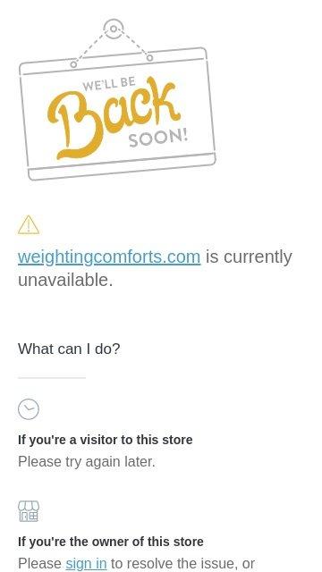 Weightingcomforts.com 2